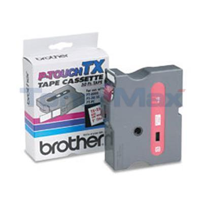 BROTHER P-TOUCH TAPE RED/WHITE (24 MM X 15 M)
